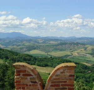 Vista Colline romagnole da Mondaino